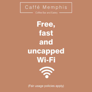 Caffe Memphis - Free, Fast & Uncapped Wifi